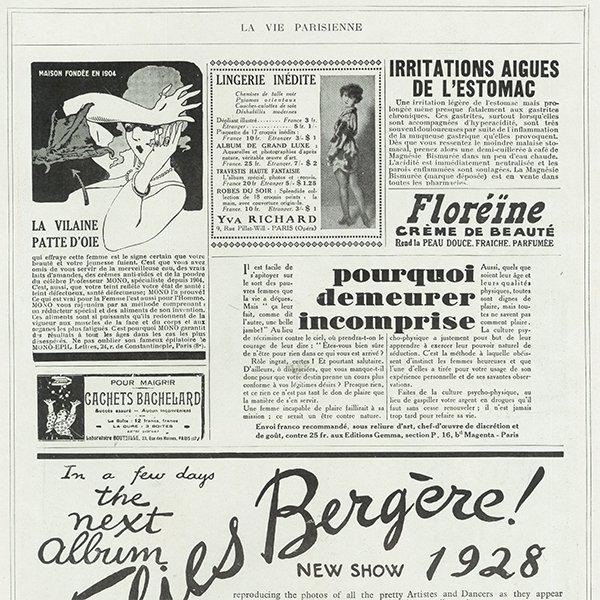 フランスの雑誌 〜LA VIE PARISIENNE〜より アドバタイジング051