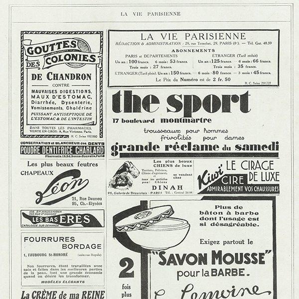 フランスの雑誌 〜LA VIE PARISIENNE〜より アドバタイジング058