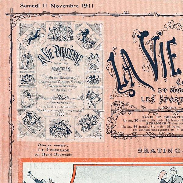 フランスの雑誌 〜LA VIE PARISIENNE〜表紙 アドバタイジング060