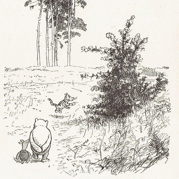 ヴィンテージプリント くまのプーさん(クラシックプーCH-0027)