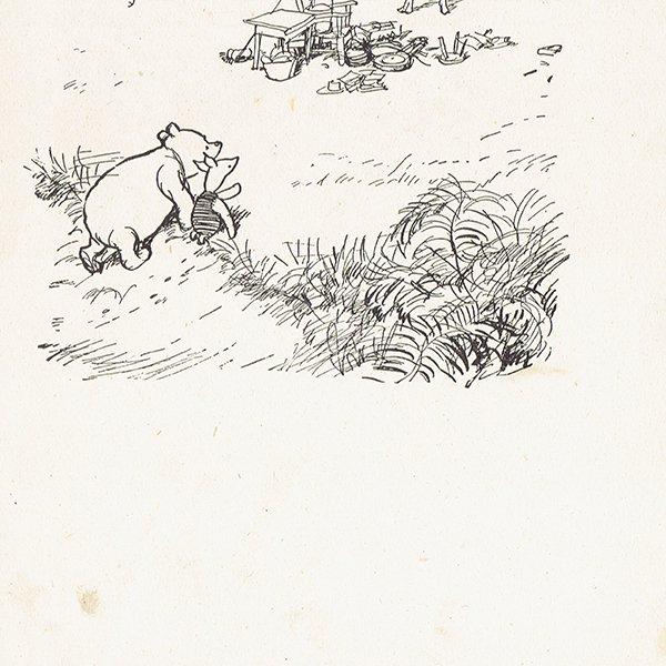 ヴィンテージプリント くまのプーさん(クラシックプーCH-0036)