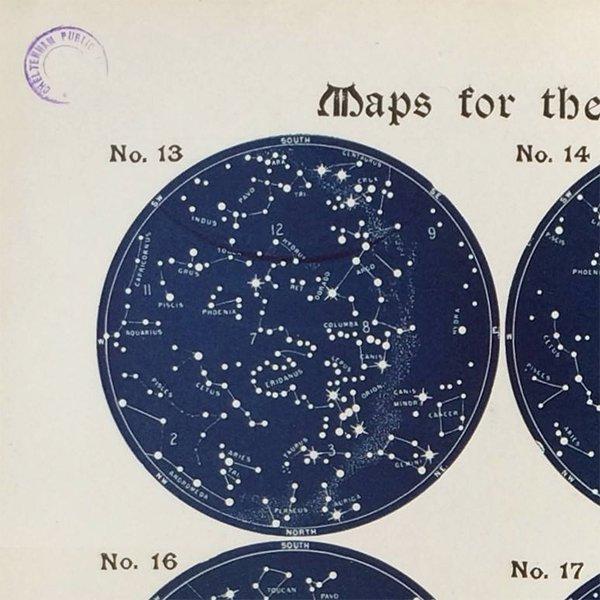 アンティーク星座チャート南半球(天文学)ウィリアム・ペック著