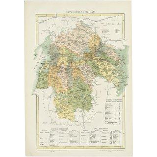 スウェーデン アンティークマップ 地図002