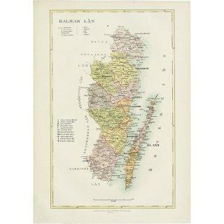 スウェーデン アンティークマップ 地図003