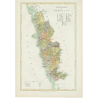 スウェーデン アンティークマップ 地図004