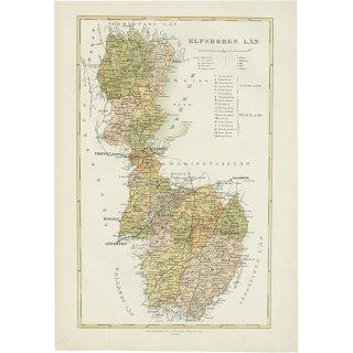 スウェーデン アンティークマップ 地図005