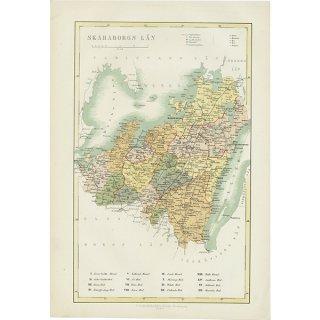 スウェーデン アンティークマップ 地図006