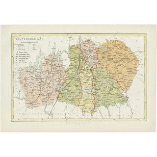 スウェーデン アンティークマップ 地図008