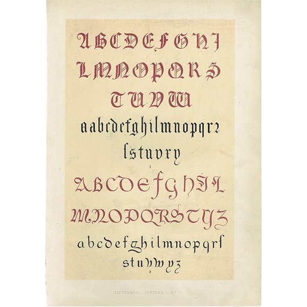 イギリスアンティークプリント タイポグラフィ/アルファベット 0023