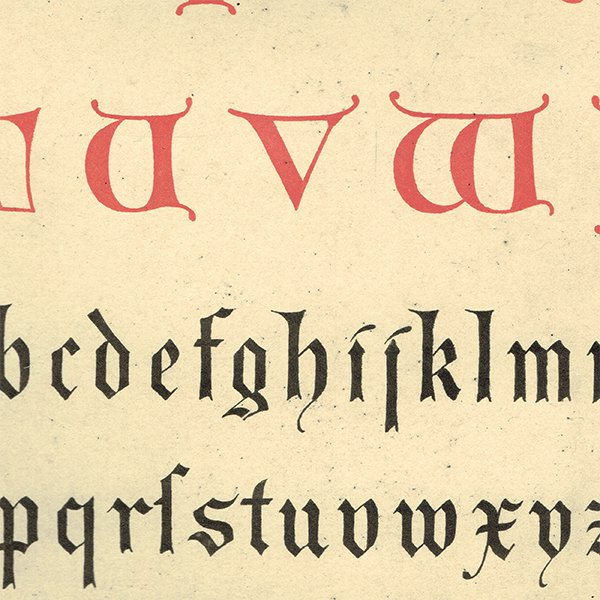 イギリスアンティークプリント タイポグラフィ/アルファベット 0024