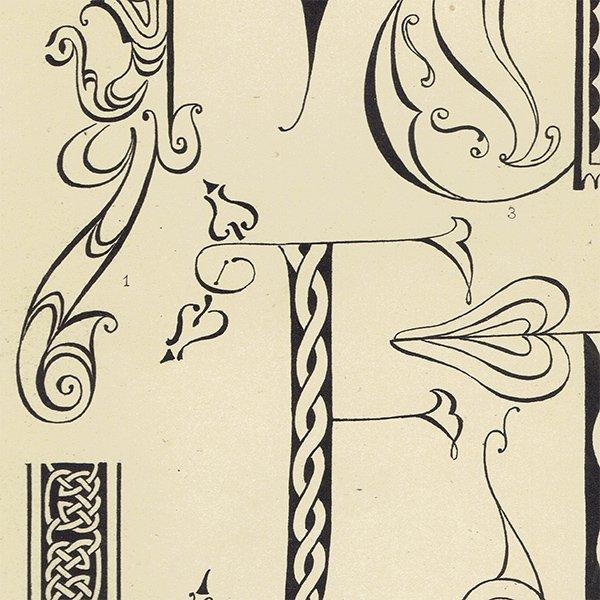 イギリスアンティークプリント タイポグラフィ/アルファベット 0025