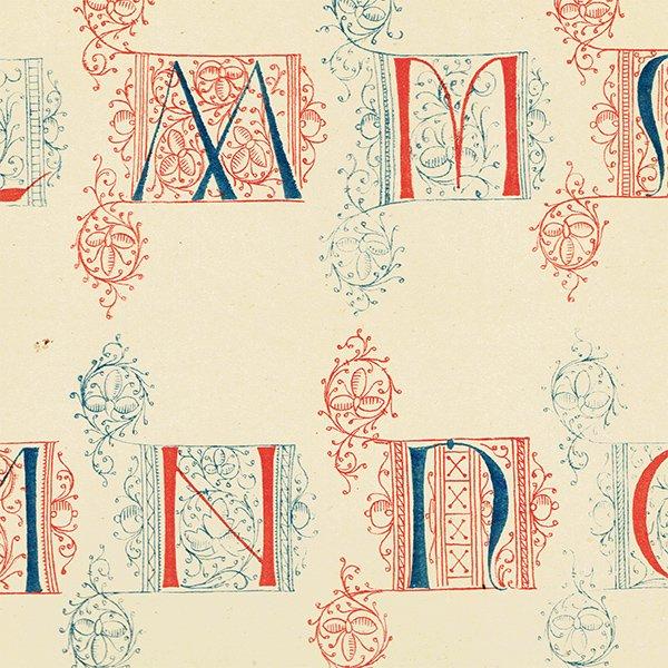 イギリスアンティークプリント タイポグラフィ/アルファベット 0028