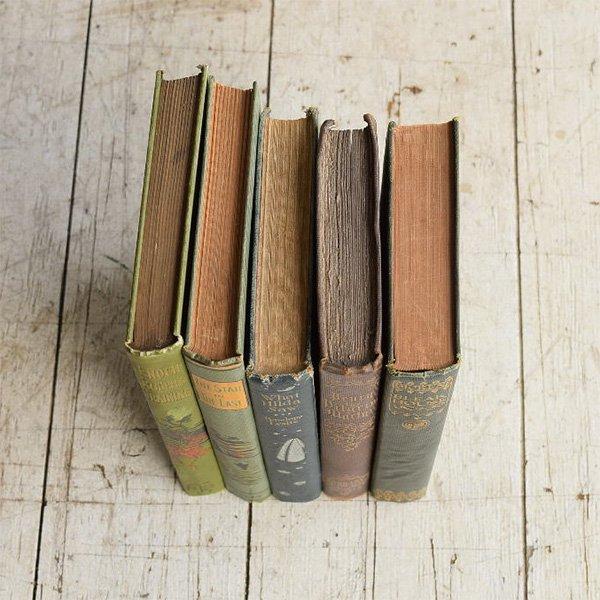 アンティーク ブック 本 洋書 5冊セット ディスプレイ 8269