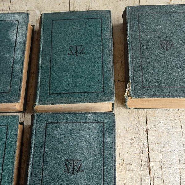 アンティーク ブック 本 洋書 7冊セット ディスプレイ 8267