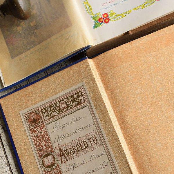 アンティーク ブック 本 洋書 6冊セット ディスプレイ 8272