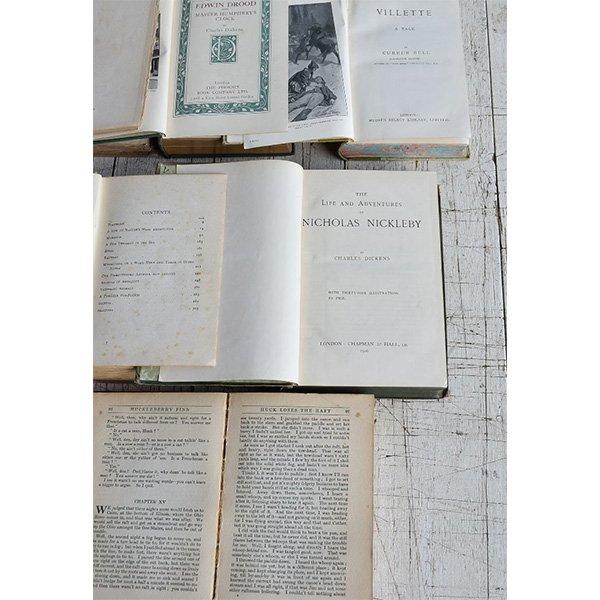 アンティーク ブック 本 洋書 7冊セット ディスプレイ 8275