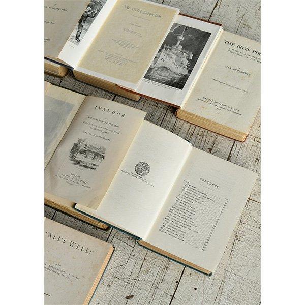 アンティーク ブック 本 洋書 7冊セット ディスプレイ 8276