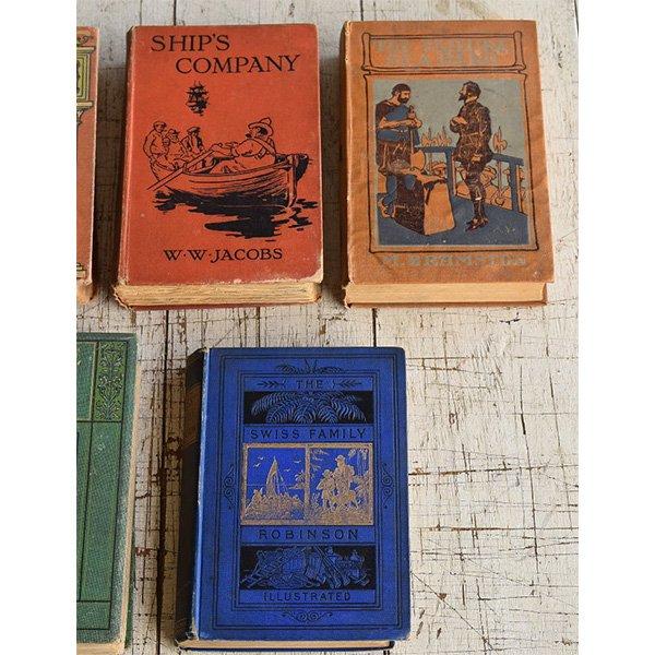アンティーク ブック 本 洋書 7冊セット ディスプレイ 8277