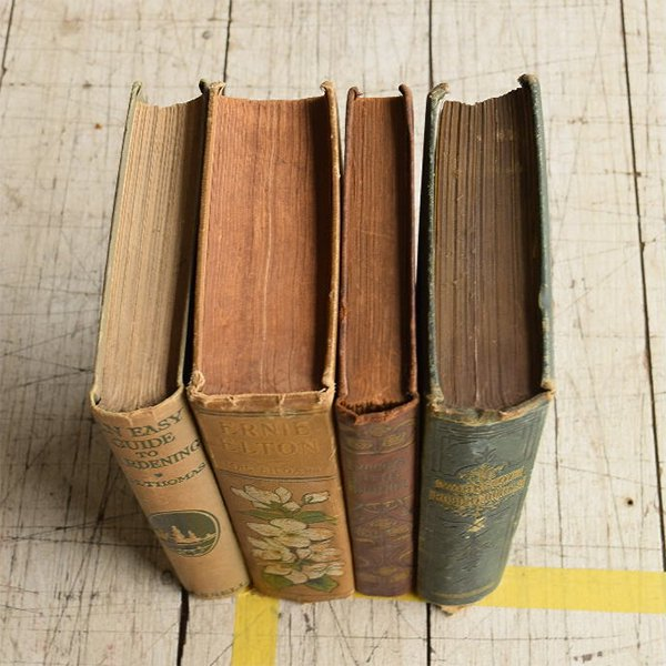 イギリス アンティーク ブック 本 洋書 4冊セット ディスプレイ 8297