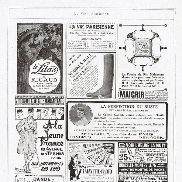 フランスの雑誌 〜LA VIE PARISIENNE〜表紙 アドバタイジング071