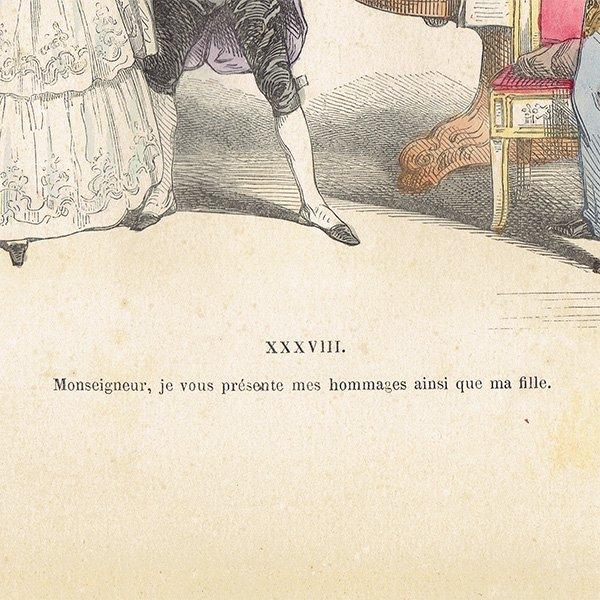J.Jグランヴィル Les Metamorphoses du Jour 047(アンティークプリント)