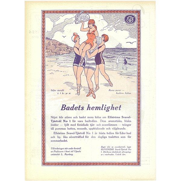 スウェーデンの古い雑誌表紙 Bonniers 1924-7-19 Nr29 069(ヴィンテージプリント)