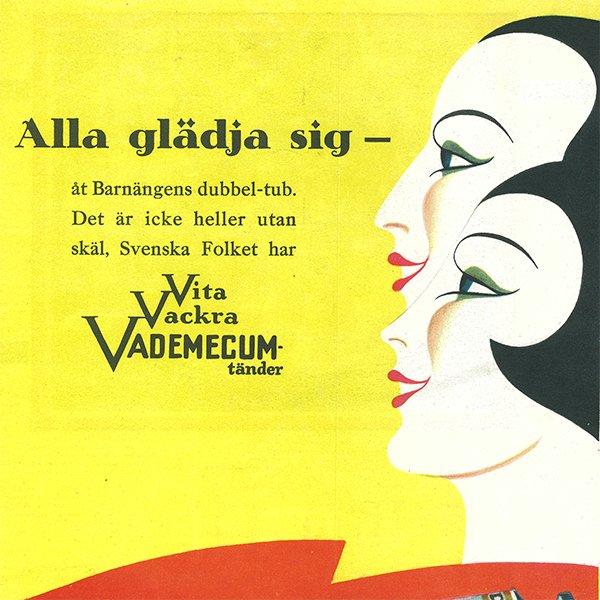 スウェーデンの古い雑誌広告(アンティークプリント) VADEMECUM(歯磨き粉) 070