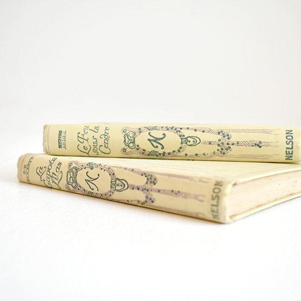 ネルソン(NELSON)洋書(古書) フレンチアンティークブックセット(2冊)013