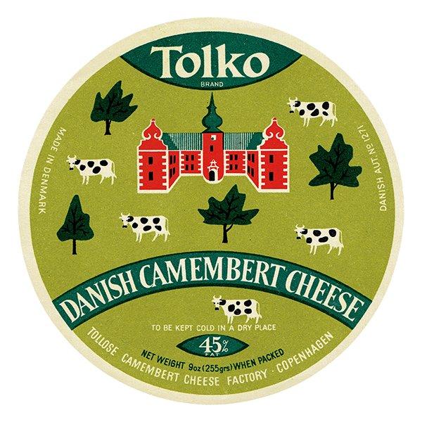 デンマークのヴィンテージチーズラベル(TOLKO) 001