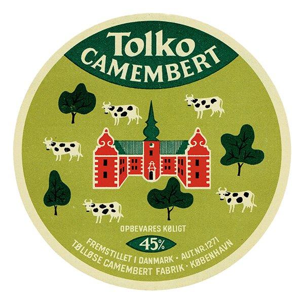デンマークのヴィンテージチーズラベル(TOLKO) 002