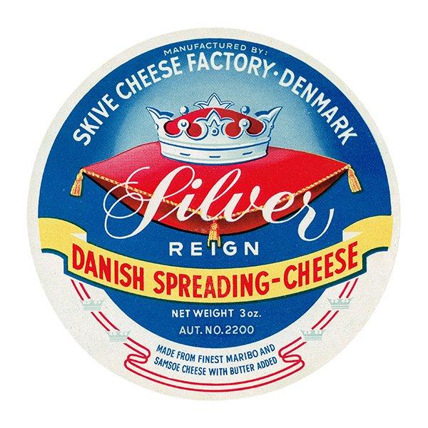 デンマークのヴィンテージチーズラベル(Silver) 004