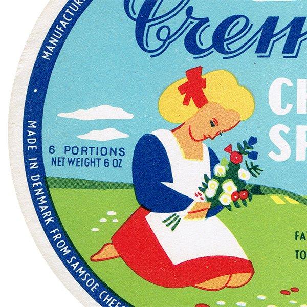 デンマークのヴィンテージチーズラベル(Cremo) 006
