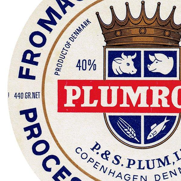デンマークのヴィンテージチーズラベル(PLUMROSE) 016