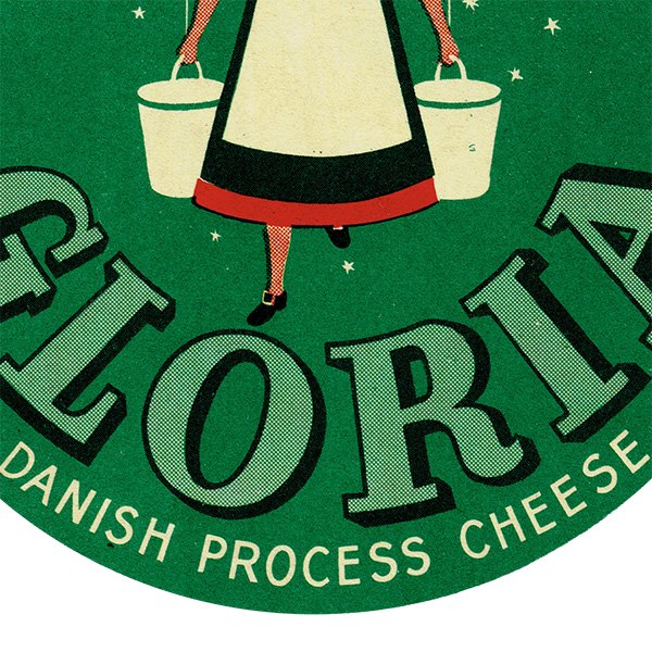 デンマークのヴィンテージチーズラベル(GLORIA) 017