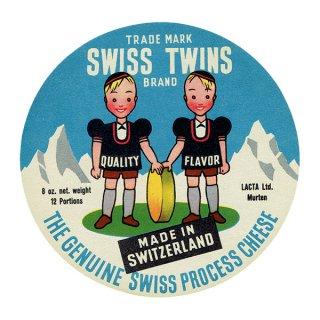 スイスのヴィンテージチーズラベル(SWISS TWINS) 003
