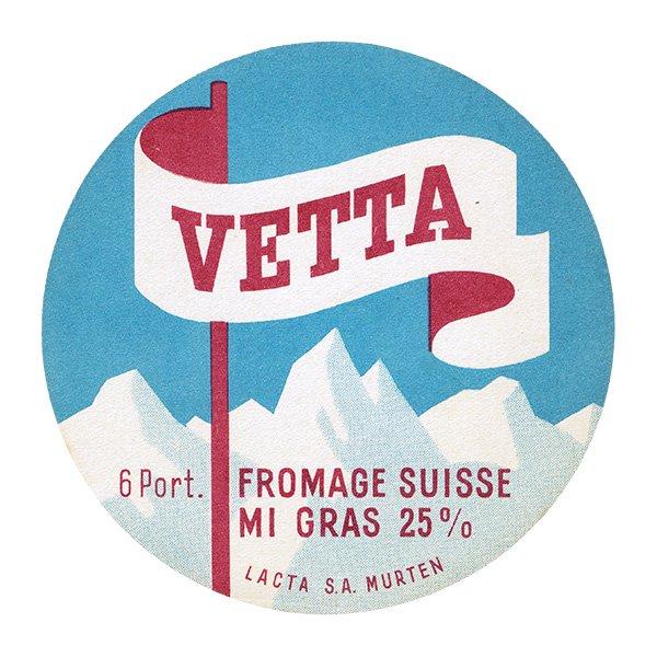 スイスのヴィンテージチーズラベル(VETTA) 010