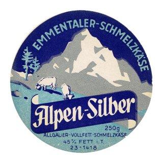 スイスのヴィンテージチーズラベル(Alpen-Silber) 011