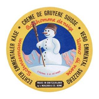 スイスのヴィンテージチーズラベル(スノーマン) 015
