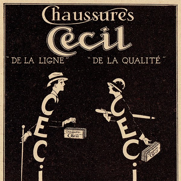 フランスの雑誌広告 CECIL SHOES 074