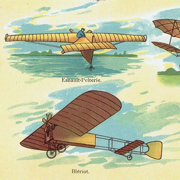古い飛行機(EARLY AIRPLANES)のアンティークプリント 0019