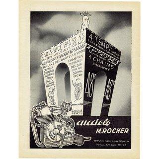 フランスのバイク雑誌広告 Cucciolo Motor M. Rocher 075