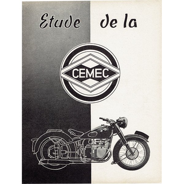 CEMEC オートバイ製造メーカーのヴィンテージ広告 0021