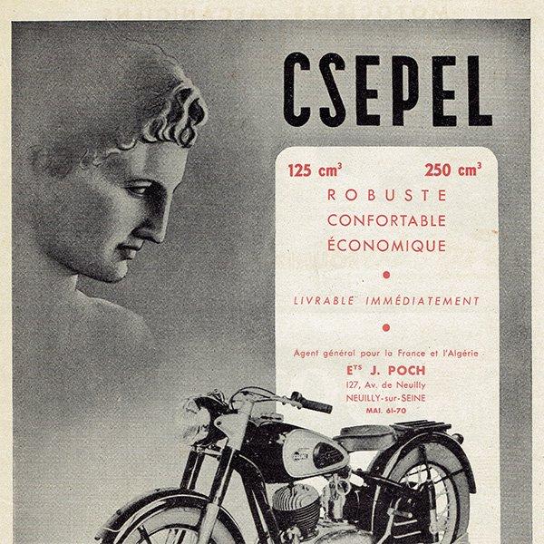 CSEPEL オートバイのヴィンテージ広告 0022