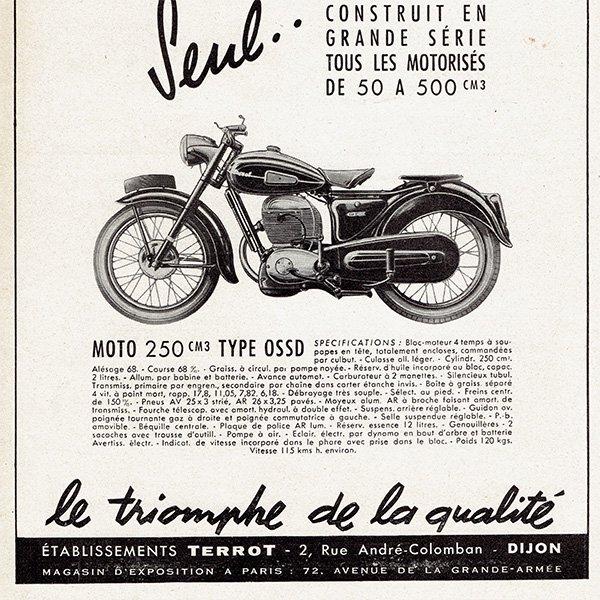 TERROT オートバイのヴィンテージ広告 0025