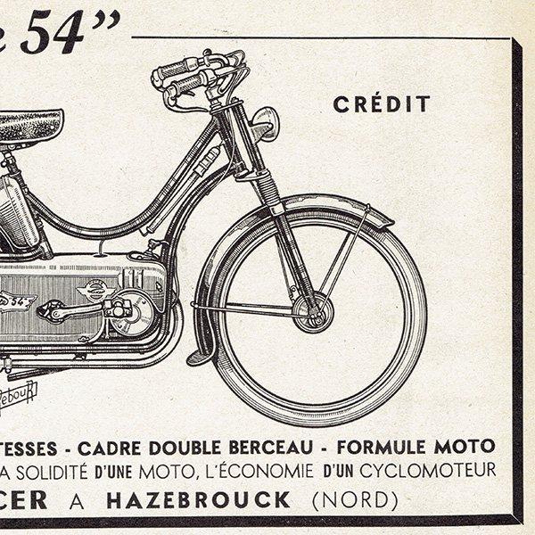 オートバイ雑誌のヴィンテージ広告 0078