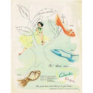 イギリスのヴィンテージ雑誌の広告 Clarks 0083