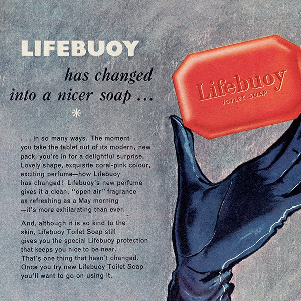 イギリスのヴィンテージ雑誌の広告 LIFEBUOY(石鹸) 0084