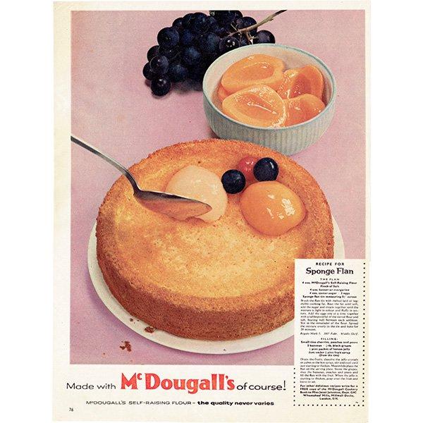 イギリスのヴィンテージ雑誌の広告 McDougalls(小麦粉) 0085