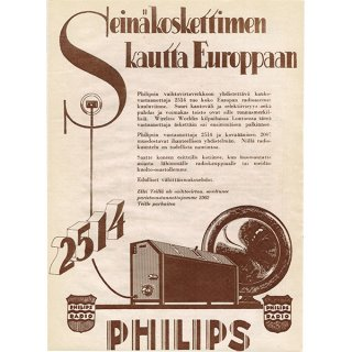 フィンランドのヴィンテージ雑誌「KOTILIESI」より PHILIPS広告  0088