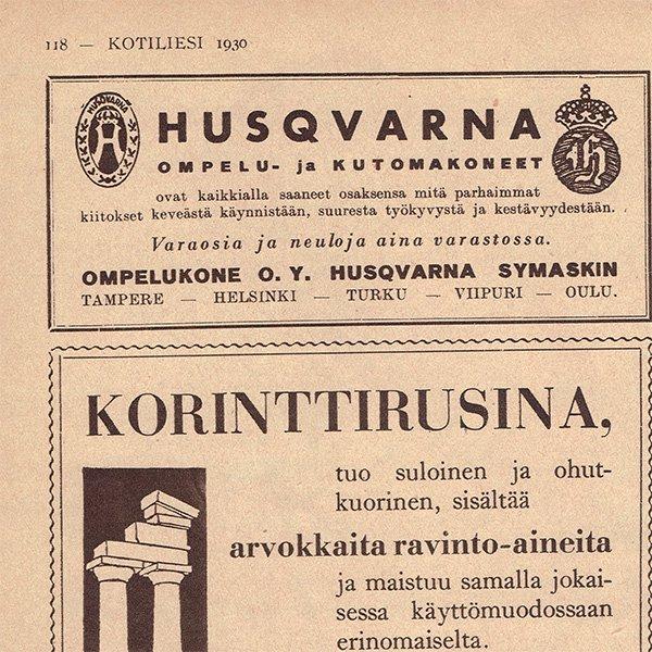 フィンランドのヴィンテージ雑誌「KOTILIESI」より PHILIPS広告  0090